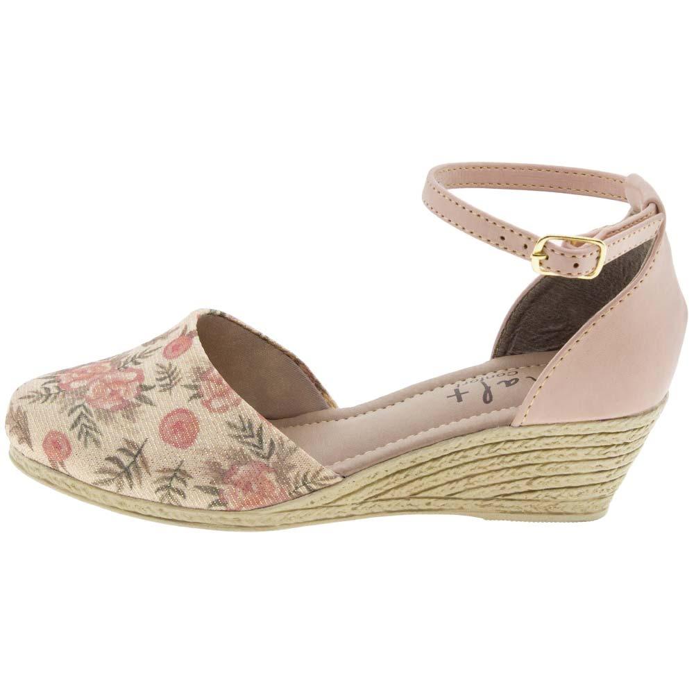 0ef4838b38 sapato infantil feminino espadrille floral sinal positivo -1. Carregando  zoom.