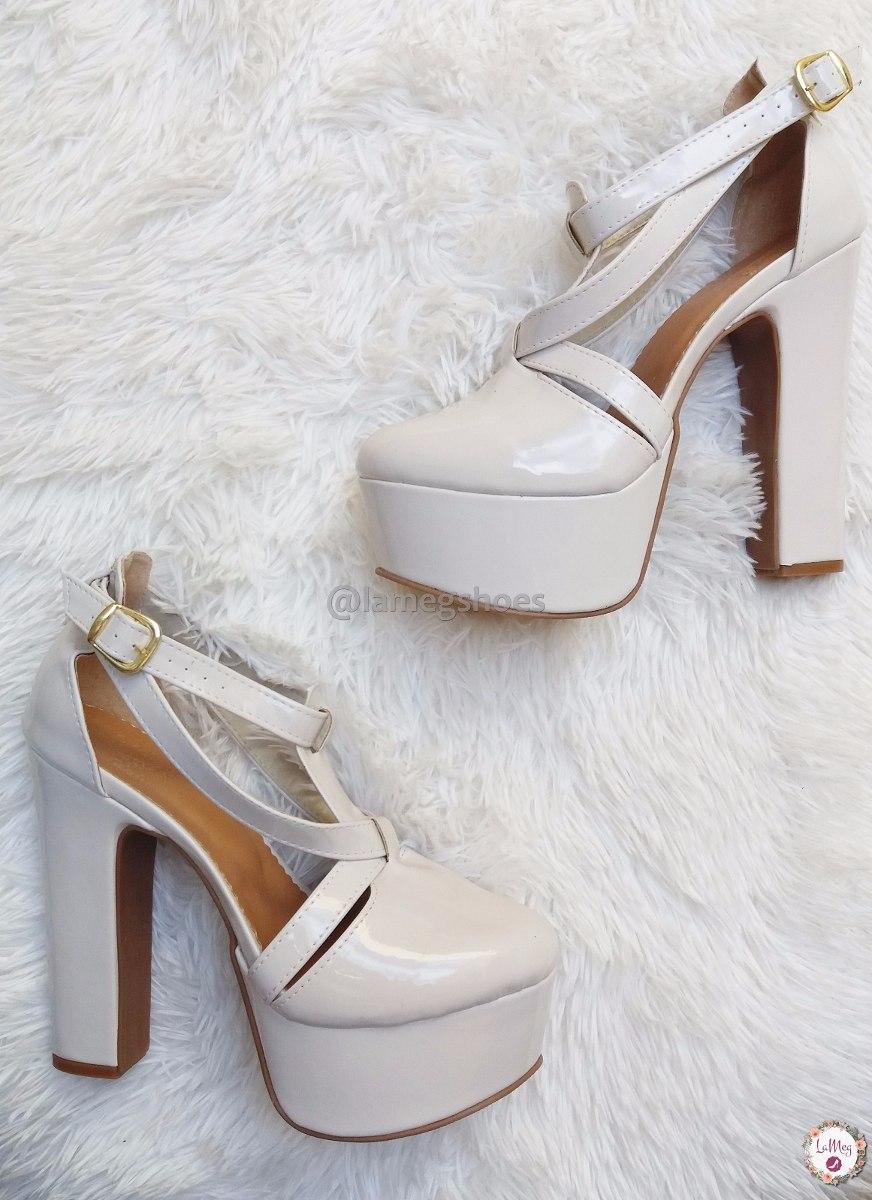 aeb7e8543 sapato inspiração moda verão luxo plataforma salto alto 150. Carregando zoom .