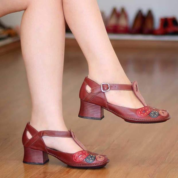 3c849dde7 Sapato J.gean Confortável Cor Vermelho 0075 Confortável! - R$ 299,99 ...