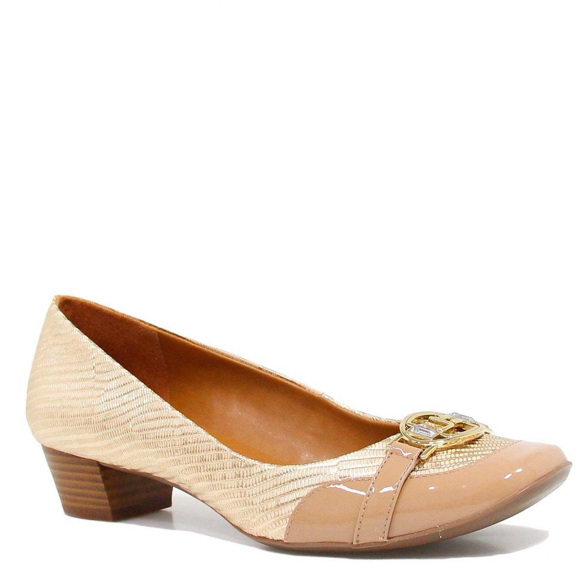 4c6ac669d Sapato Jorge Bischoff Scarpin Croco Metal Nude