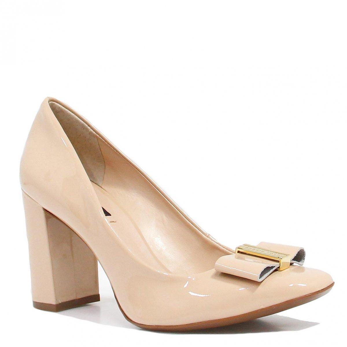 4597e24b1 Sapato Jorge Bischoff Scarpin Laço Nude