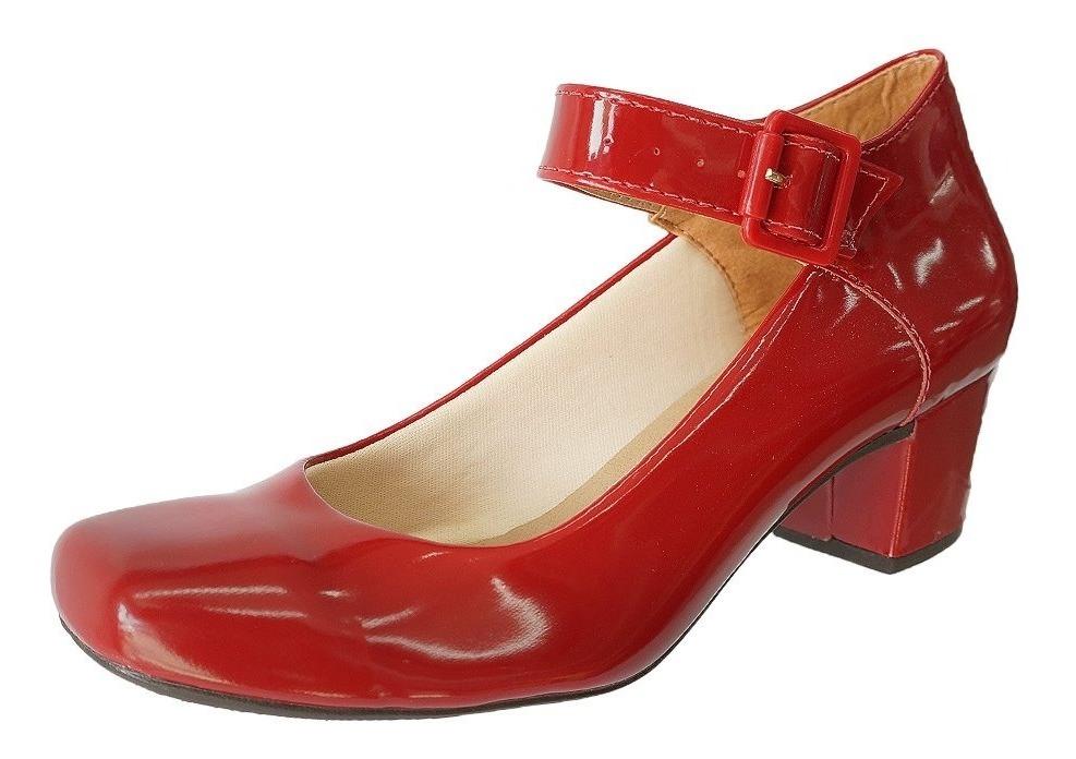 8b748cfbbd sapato lilha shoes feminino confortavel salto baixo grosso. Carregando zoom.