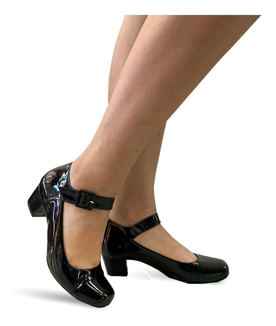 f6b6febd9 Sapato Lilha Shoes Feminino Confortavel Salto Baixo Grosso - R$ 68 ...