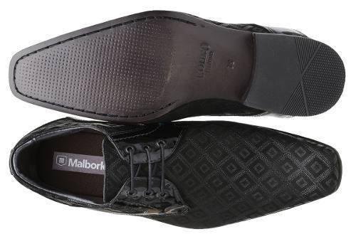 03415b3714 Sapato Malbork Em Couro Verniz E Nobuck Estampado Preto - R  219