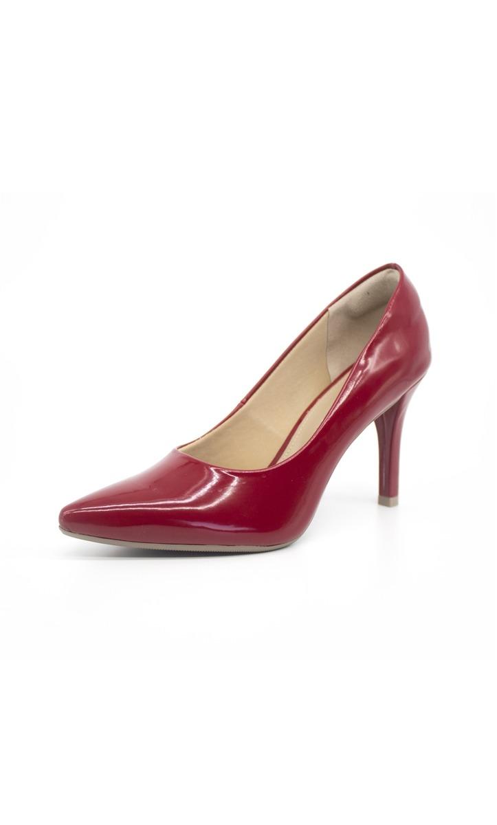 e245b1571a sapato mariotta scarpin bico fino salto alto verniz vermelho. Carregando  zoom.