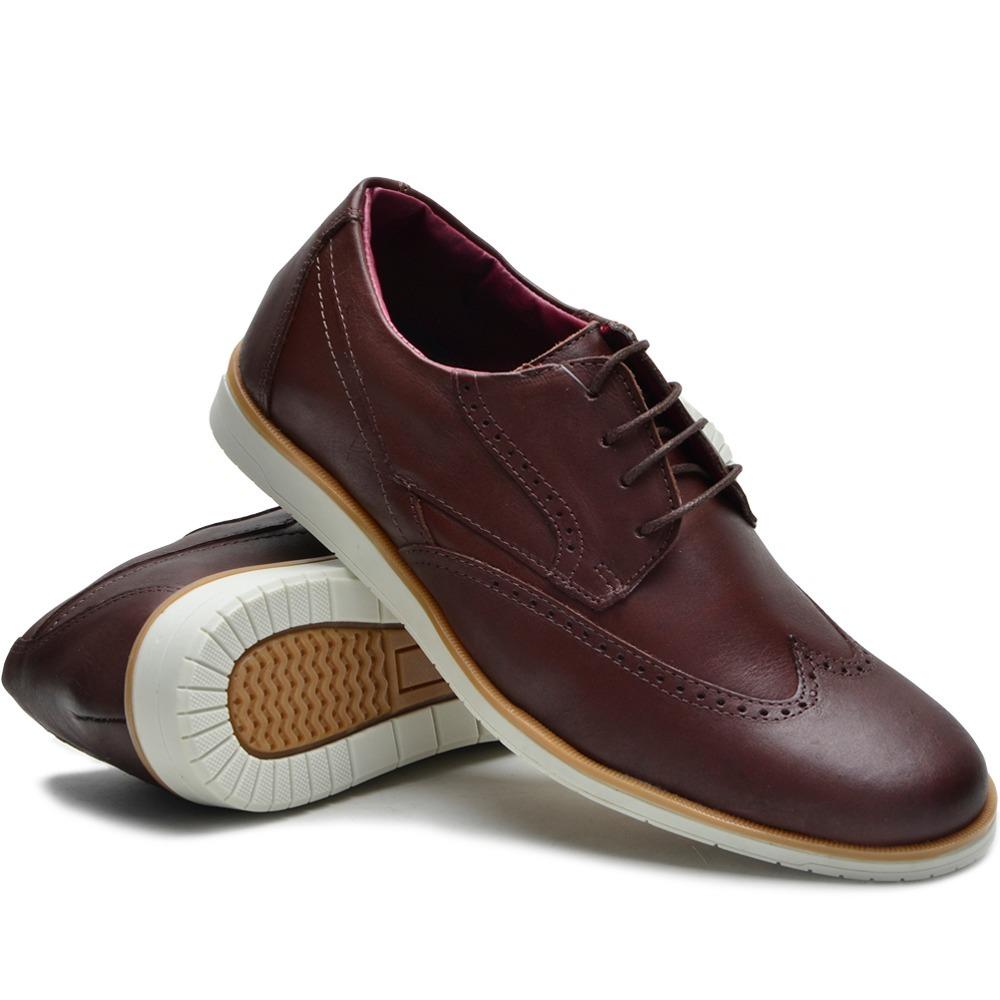 40a84d405 sapato masculino casual sport fino couro legítimo marrom. Carregando zoom.