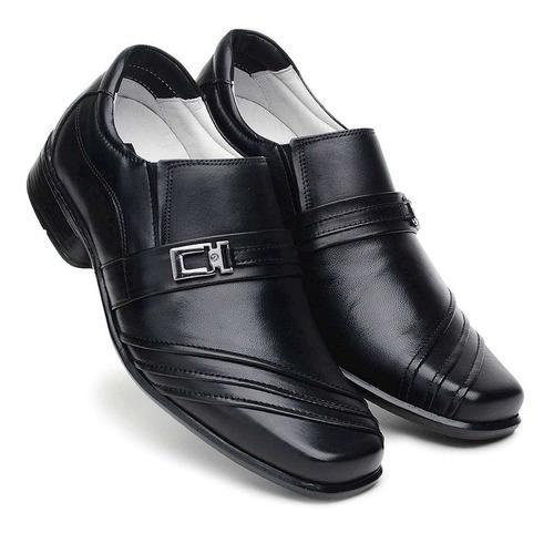 sapato masculino couro legítimo amortecedor anti stress 12x
