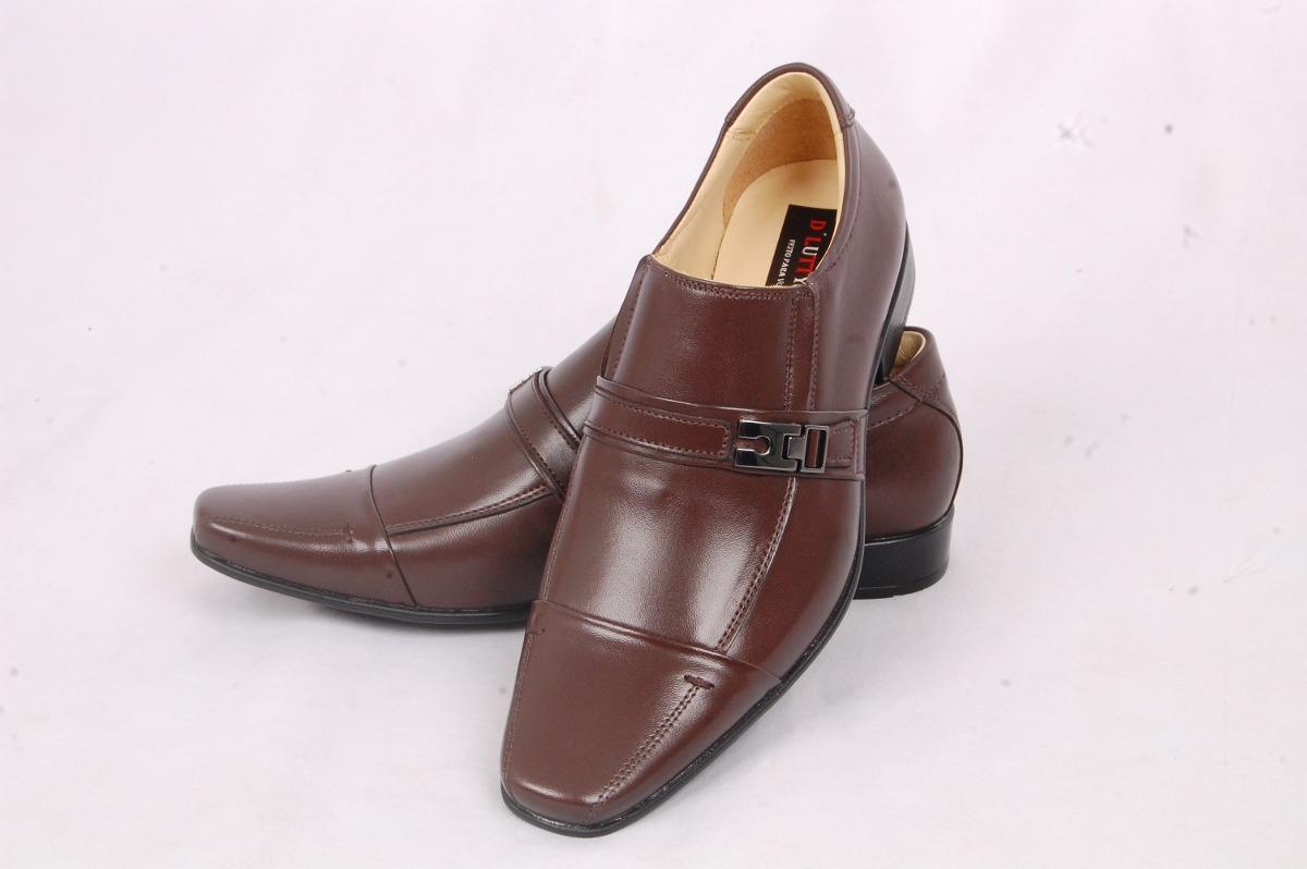 93da39edcb sapato masculino couro legítimo mestiço social cor café. Carregando zoom.