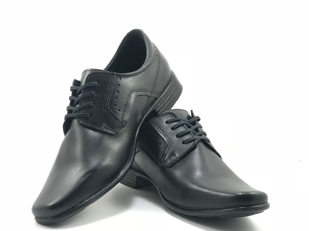 71bdb4c14e Sapato Masculino Couro Pegada Anilina Preto - R$ 159,90 em Mercado Livre