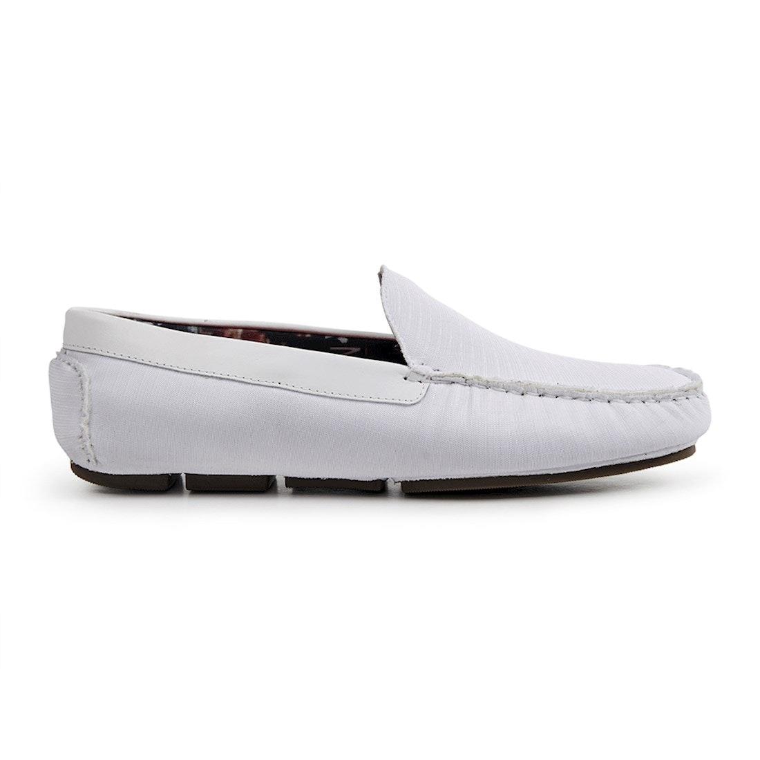 ec26182ff0 Sapato Masculino Driver Sandro Moscoloni Boca Raton Branco - R$ 145,96 em  Mercado Livre