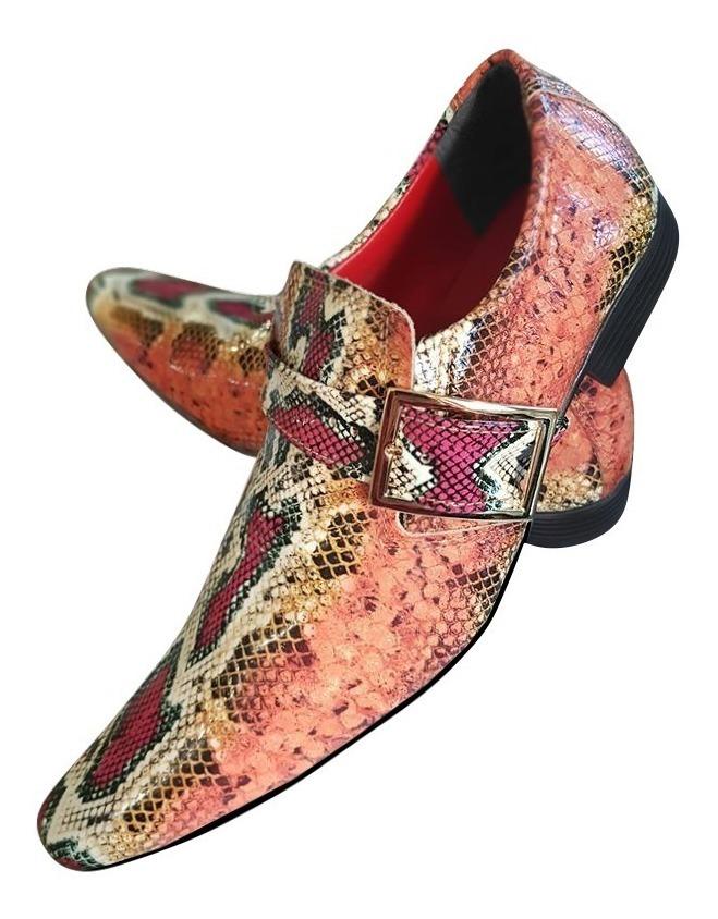 46834d63a Sapato Masculino Em Couro De Cobra Piton - R$ 289,90 em Mercado Livre
