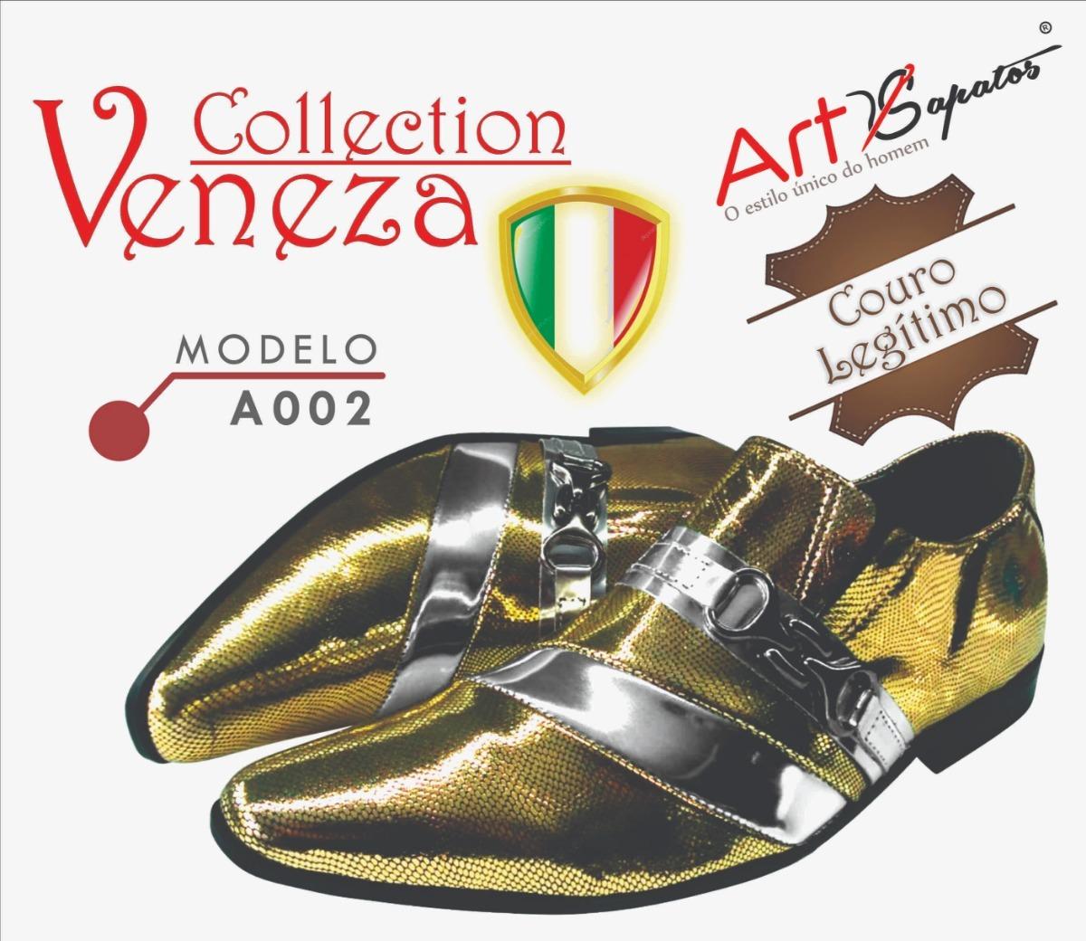 b67436362d sapato masculino em couro dourado ref  02. Carregando zoom.