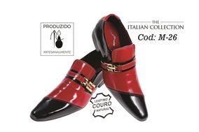 1d2617e220 Sapato Social Masculino Italiano Preto Solado Vermelho - Sapatos ...