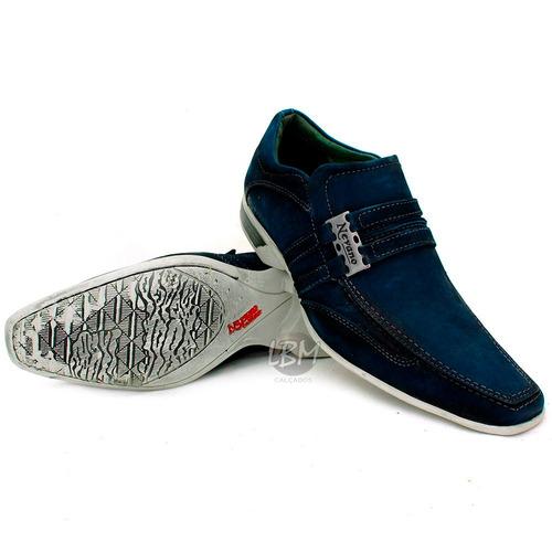 sapato masculino esporte fino! 100% couro/ frete grátis