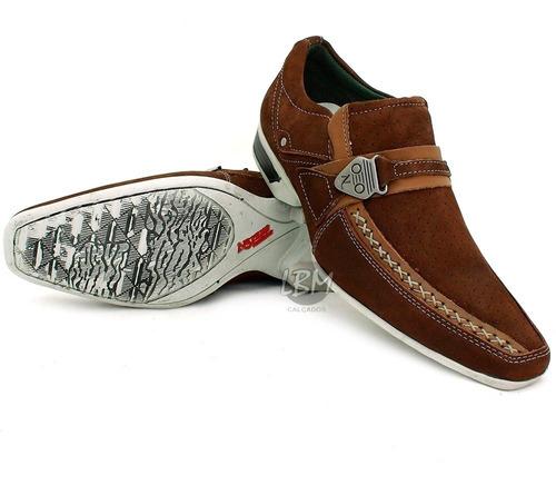 sapato masculino esporte fino! 100% couro - promoção
