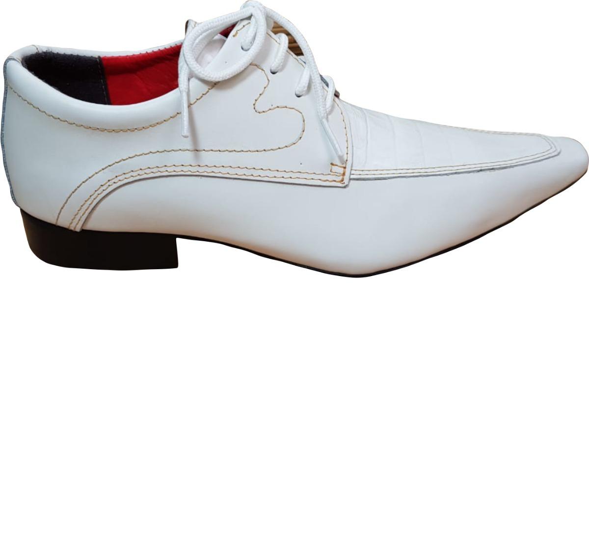 b6e9658e0 sapato masculino italiano couro branco ref. 637. Carregando zoom.