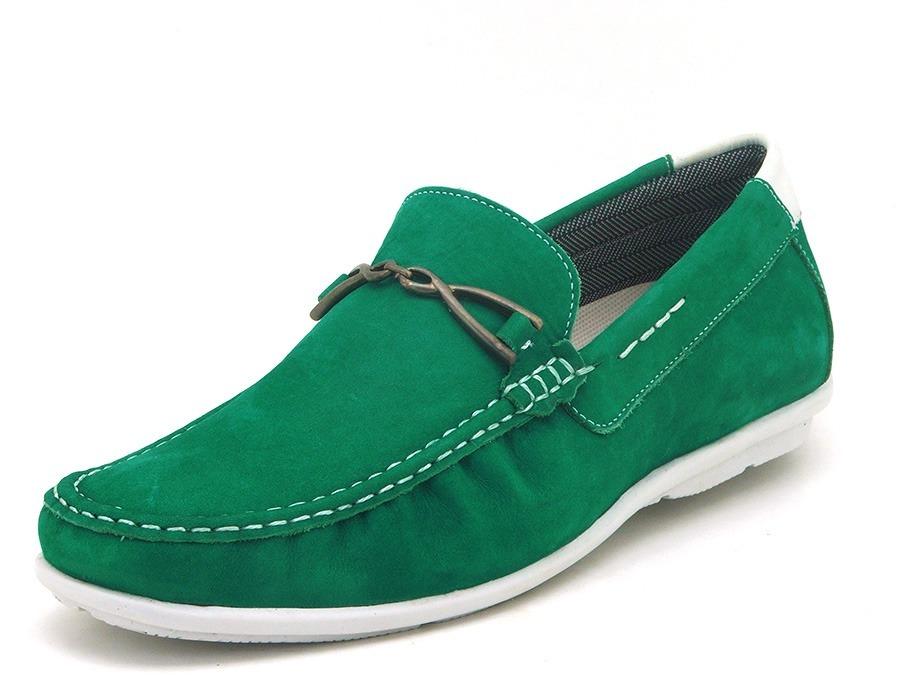 57c11604a5 sapato masculino mocassim em couro verde - 571. Carregando zoom.