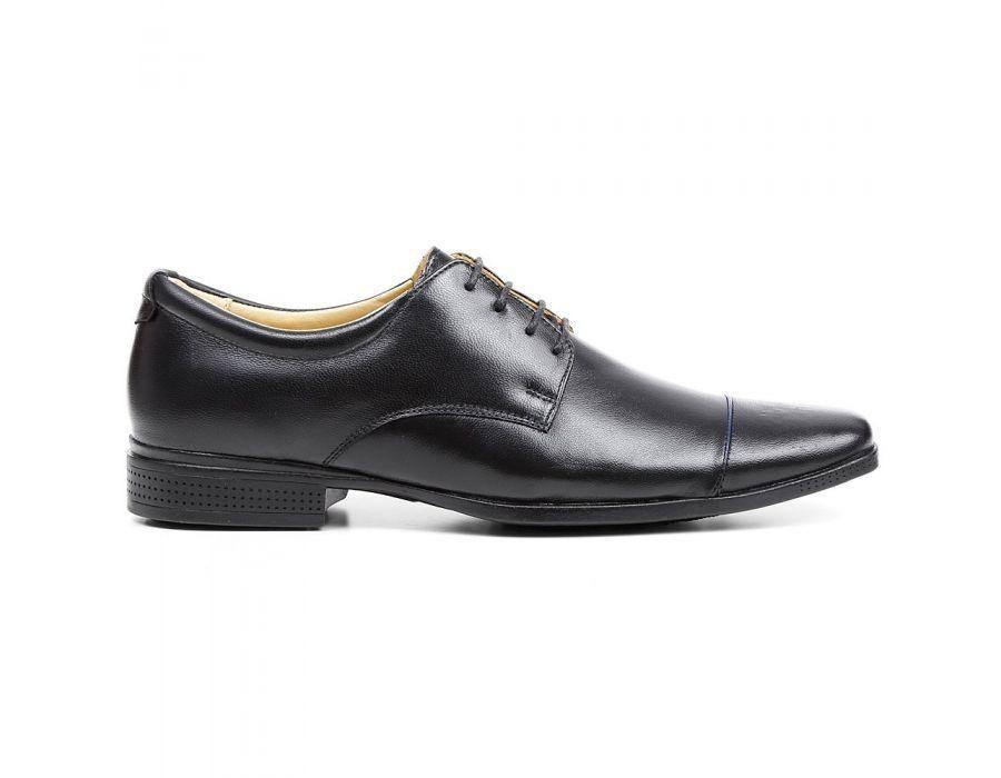 d751c5972 Sapato Masculino New Comfort Couro Pelica Preta - R$ 199,90 em ...