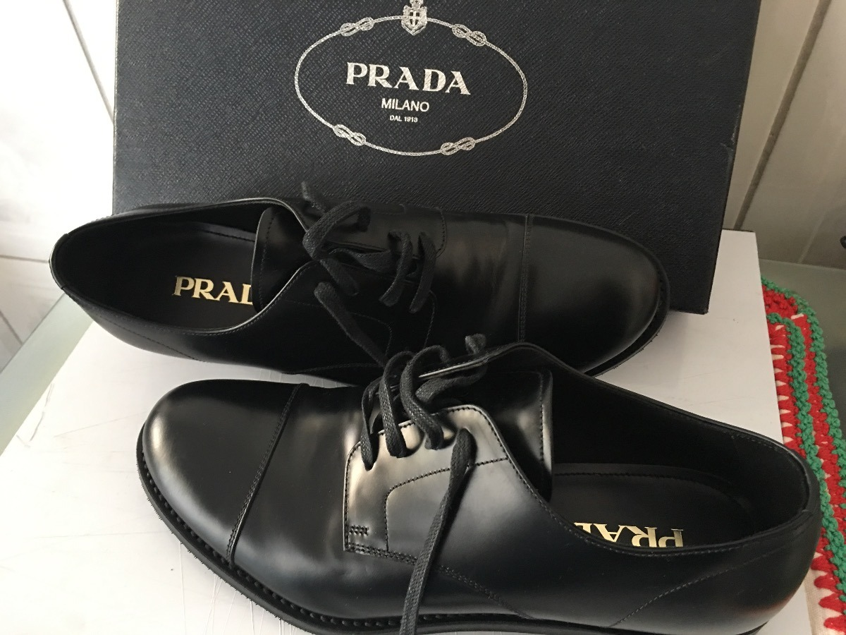 17cd702bb5 sapato masculino original social oxford - prada - seminovo. Carregando zoom.