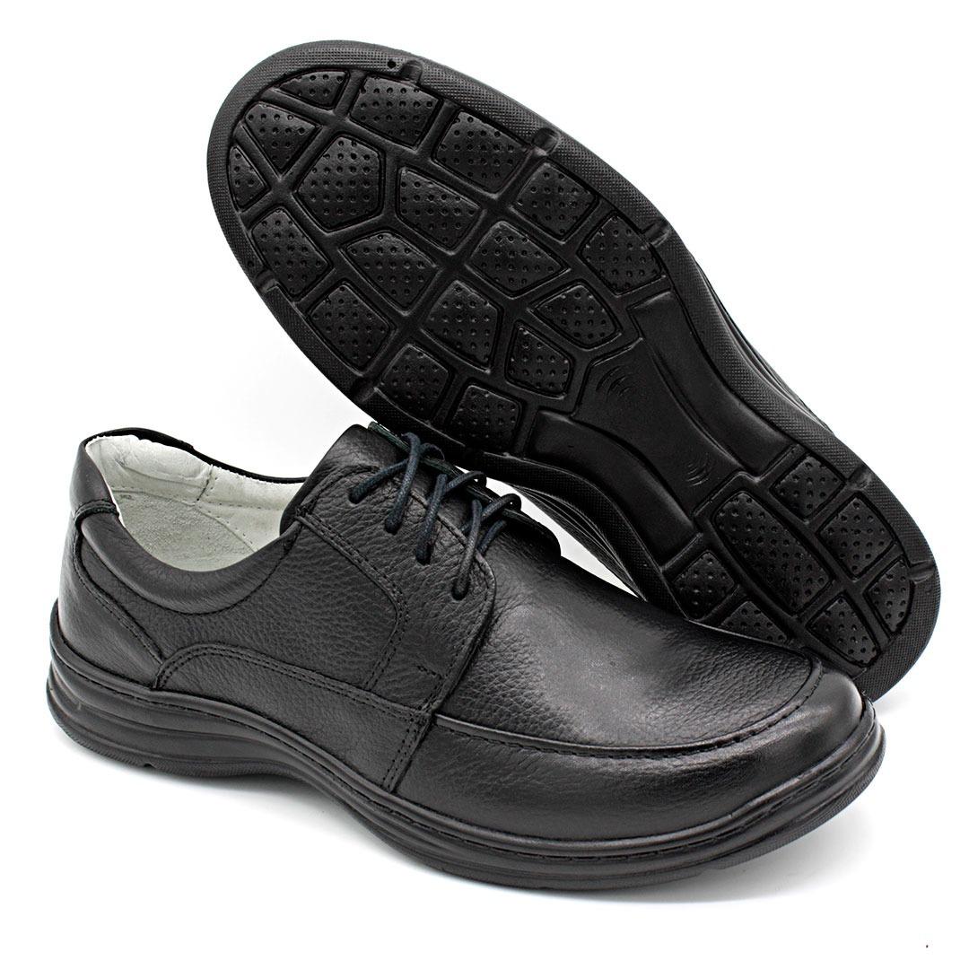 86c3a9315 sapato masculino ortopédico preto cadarço conforto 2712/1. Carregando zoom.