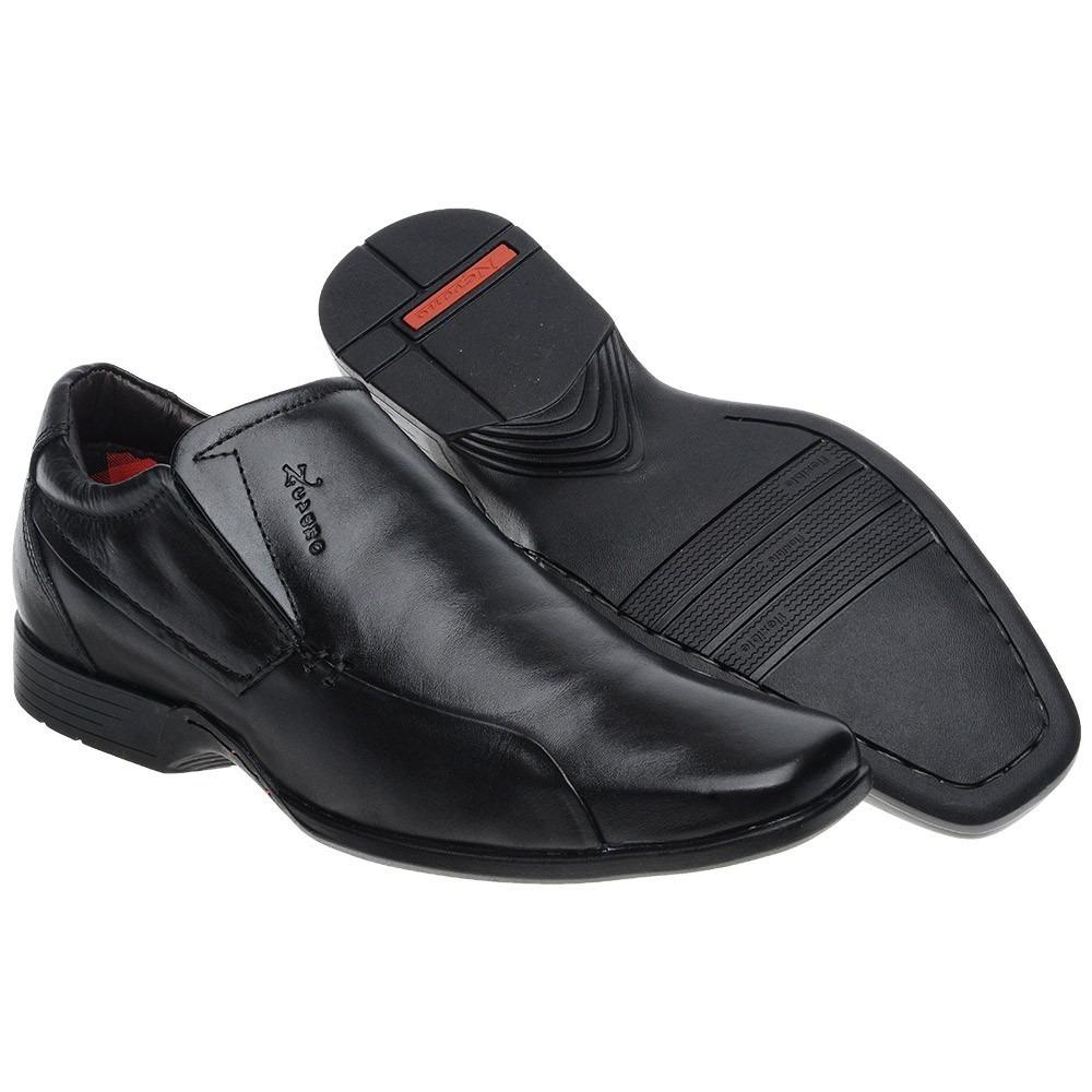 958027f58a8 sapato masculino preto em couro nevano conforto. Carregando zoom.
