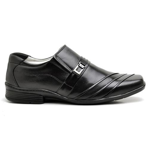2f39cbb0a Sapato Masculino Ranster Com Amortecedor Couro Preto - R$ 186,20 em ...