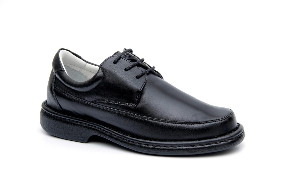 4dd89408b sapato masculino social antistress couro semi ortopédico. Carregando zoom.