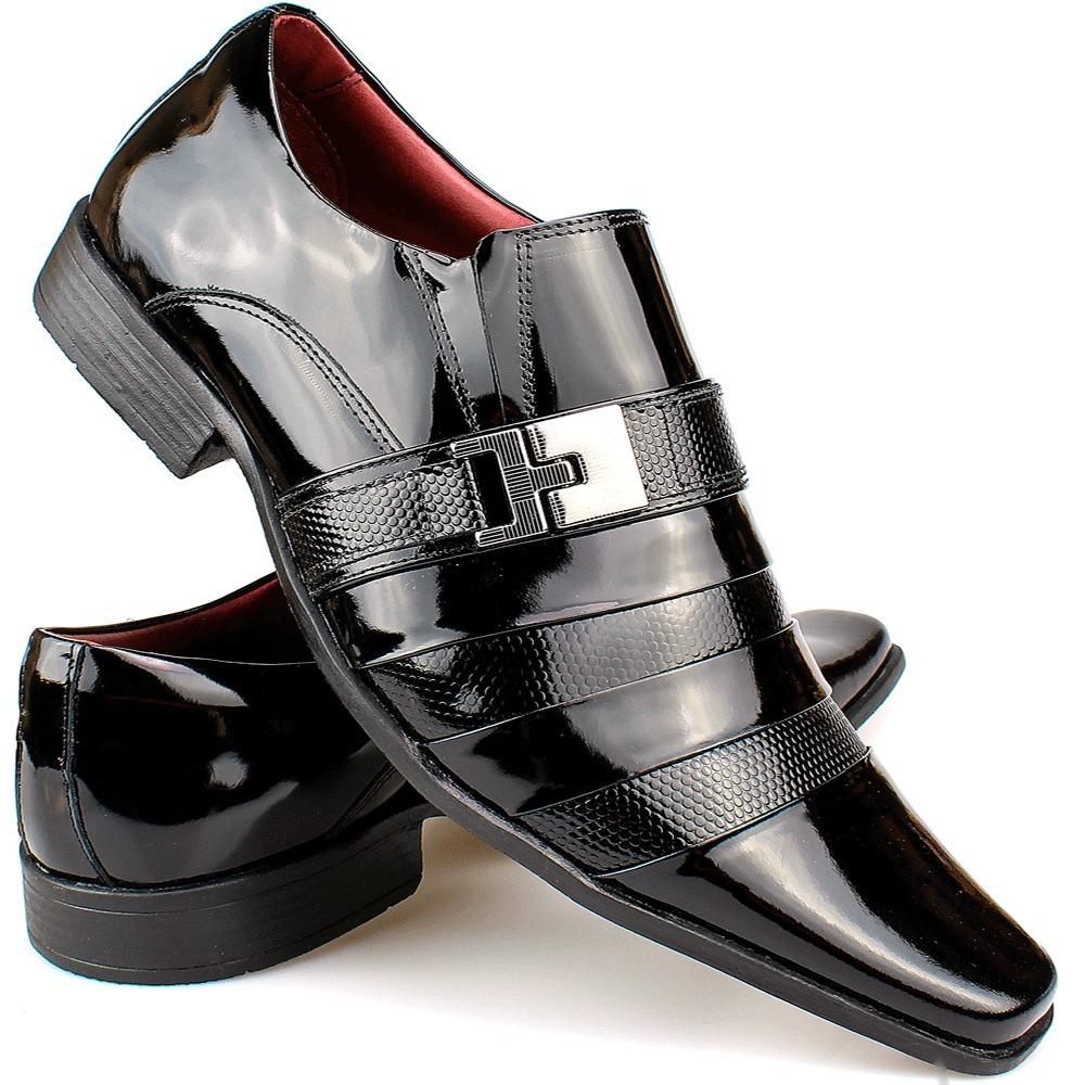 00094e8293 sapato masculino social bico longo luxo stilo italiano couro. Carregando  zoom.