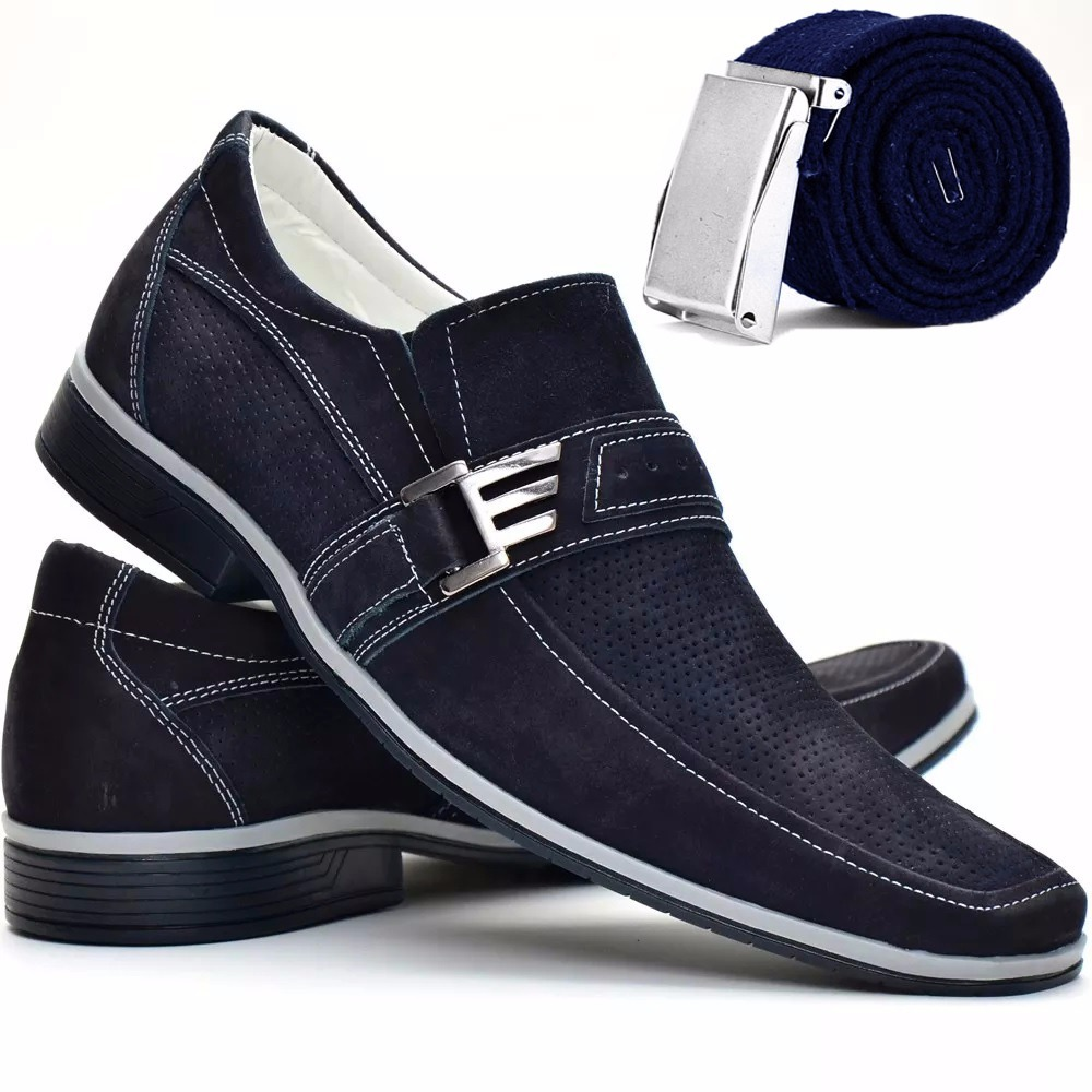 cc021e133f sapato masculino social bico longo luxo stilo italiano couro. Carregando  zoom.