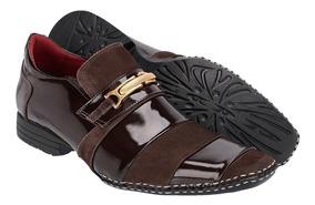 252dfcc6b Sapato Masculino Social Em Couro Costurada A Mão Khaata 1501