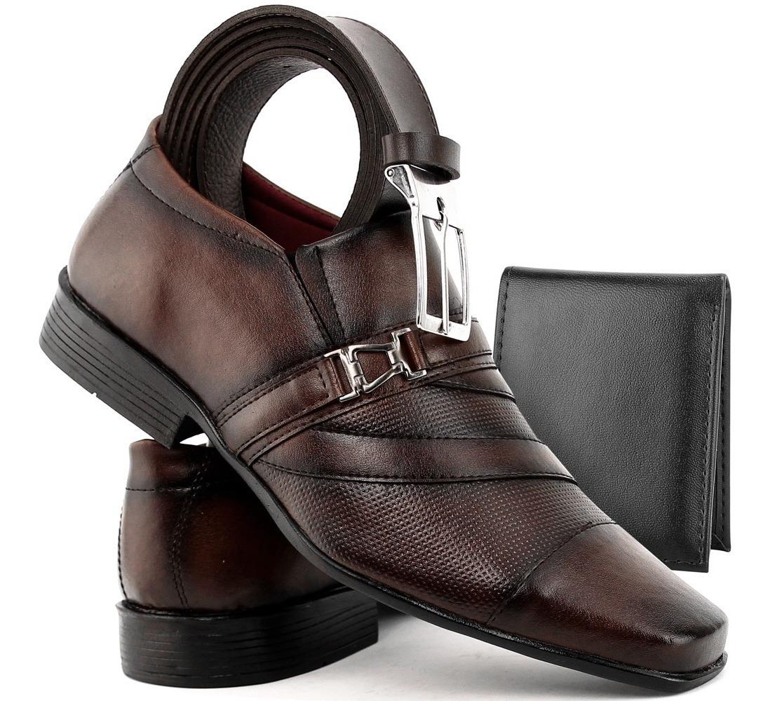 52fb493a7d sapato masculino social kit cinto + carteira lançamento dhl. Carregando zoom .