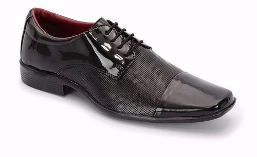 7dadb9a31d Sapato Masculino Social Preto Luxo Verniz Brilhoso - R$ 42,49 em ...