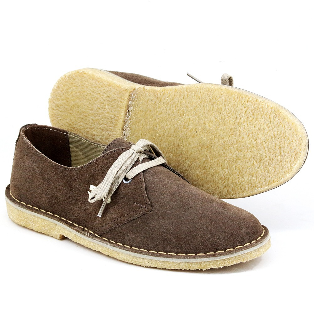ebaee3396d0 sapato masculino tênis camurça cor cafe tipo 775 crepe. Carregando zoom... sapato  masculino tênis. Carregando zoom.