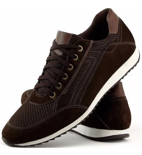 sapato masculino tênis sapatenis macio leve e confortável