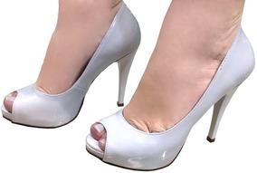 33313f62e1 Sapato Peep Toe (bico Fechado) Feminino - Sapatos no Mercado Livre ...