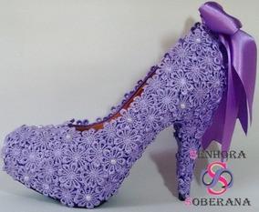 a4e91039b2 Sapato Roxo De Noiva no Mercado Livre Brasil
