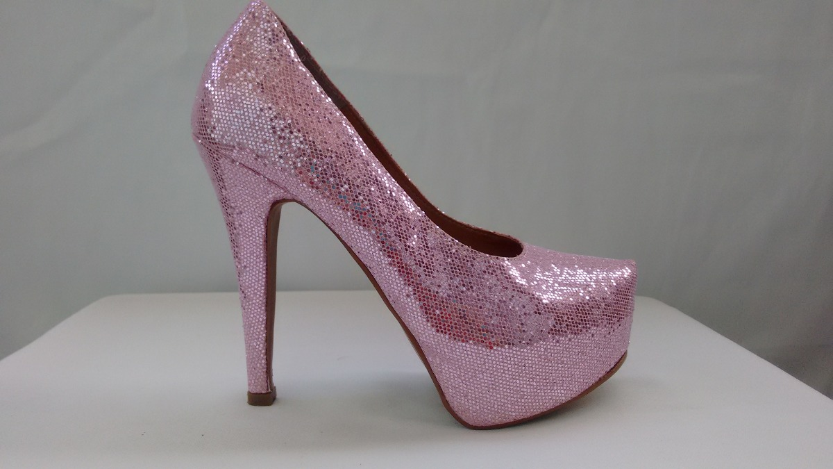 33921f05d0 sapato meia pata glitter rosa feminino. Carregando zoom.