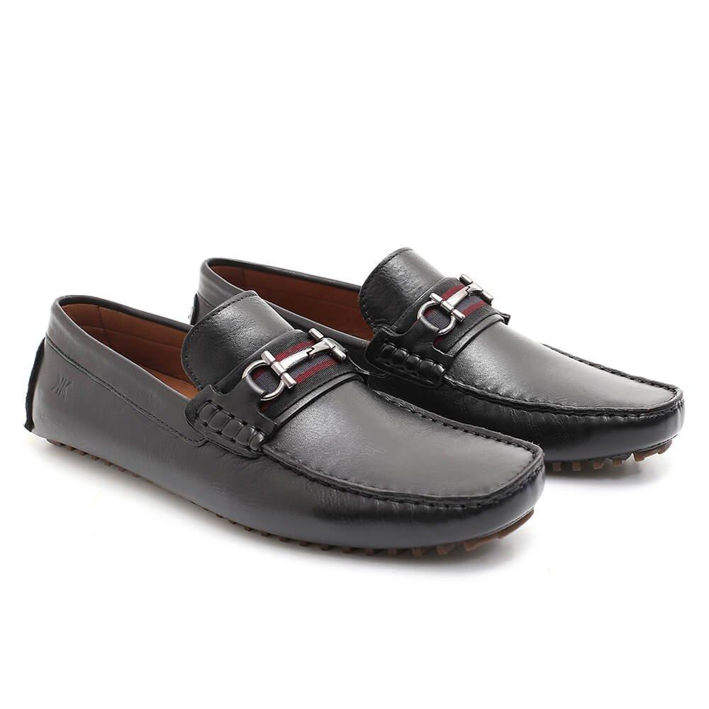 03e0975294 sapato mocassim casual social masculino martin preto couro. Carregando zoom.
