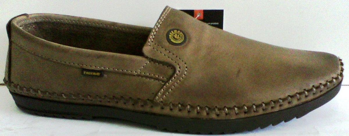 301188968 sapato mocassim couro sapatilha masculina free way logan-4. Carregando zoom.