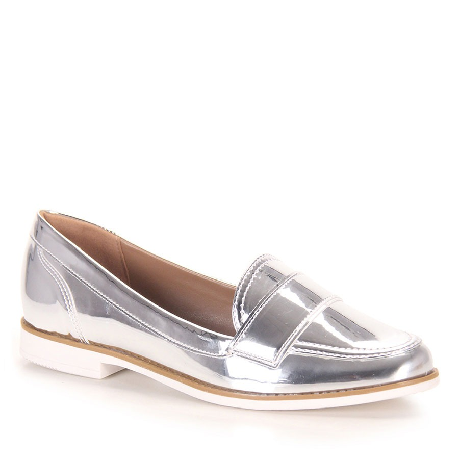 9169a3257 Sapato Mocassim Feminino Brenda Lee - Prata - R$ 39,99 em Mercado Livre