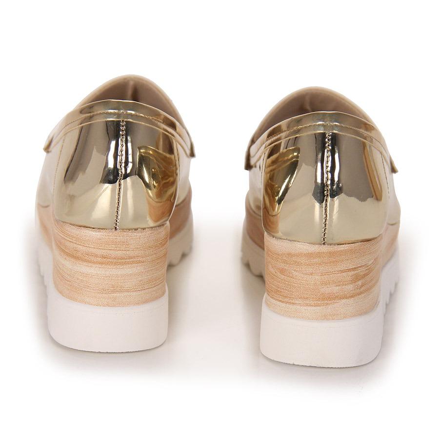 fd6fd7b835 sapato mocassim feminino moleca - dourado(a). Carregando zoom.