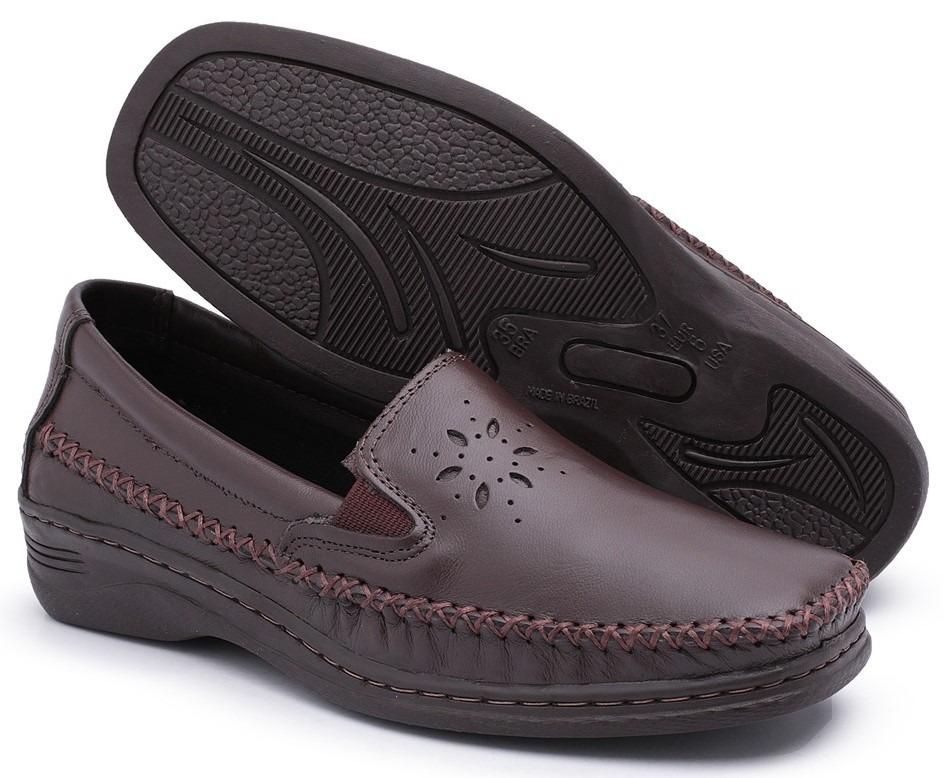 2020ab373a sapato mocassim feminino p  senhoras salto anabela ant stres. Carregando  zoom.