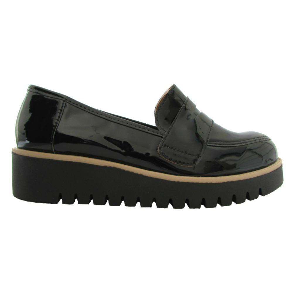fd4fae17df sapato mocassim feminino sola tratorada verniz pré venda. Carregando zoom.
