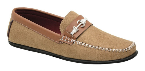 sapato mocassim masculino casual s/ cadarço camurça dockside
