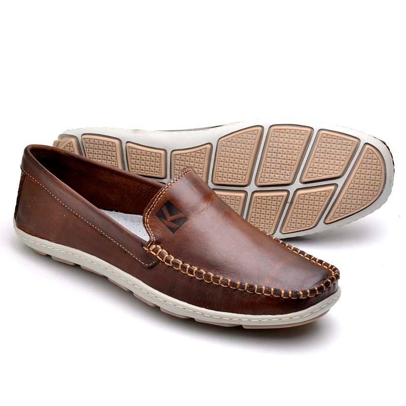 3d0e7123fd sapato mocassim masculino couro legitimo café 5 cores elite. Carregando  zoom.