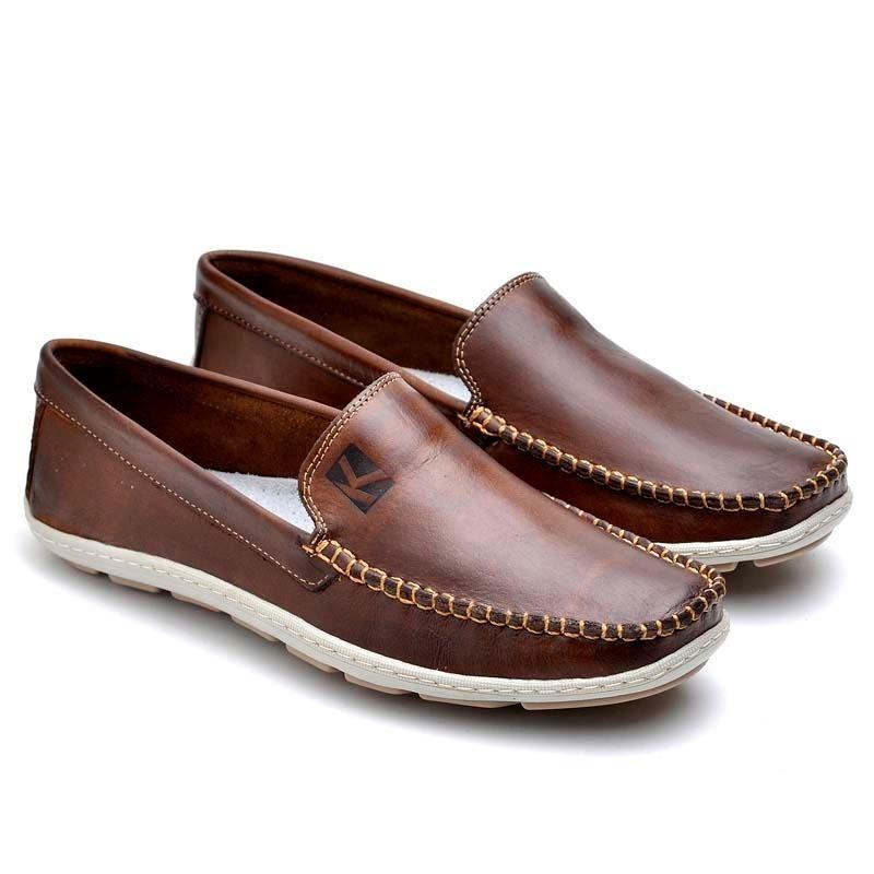 72febde9be sapato mocassim masculino couro legitimo café 5 cores - leve. Carregando  zoom.