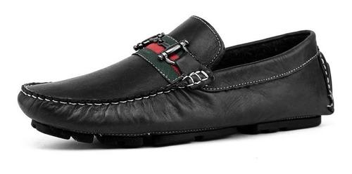 sapato mocassim masculino em couro - pronta entrega