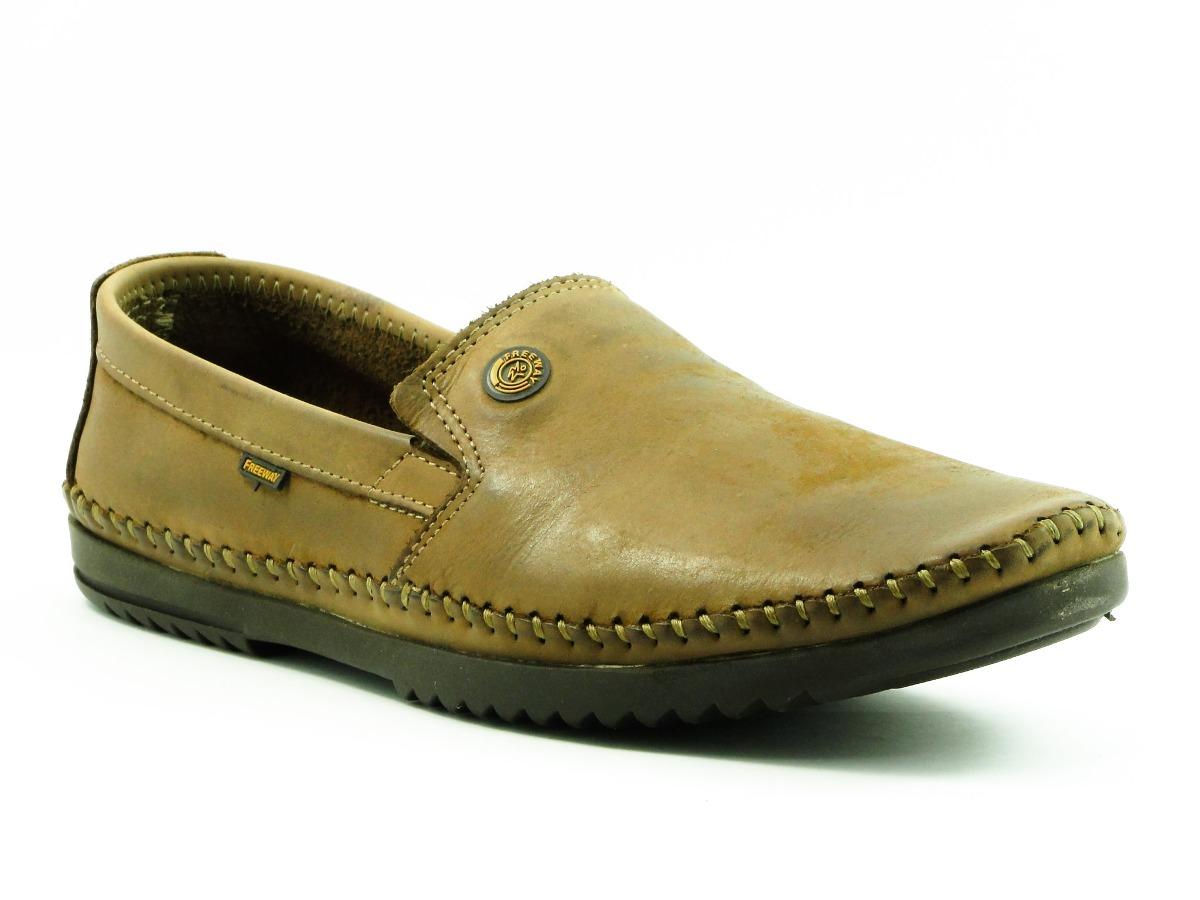 e59c38597 sapato mocassim masculino freeway logan 4 couro marrom. Carregando zoom.