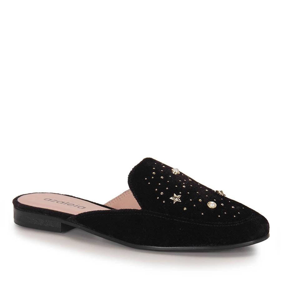 1ffc4e5630 sapato mocassim mule feminino azaleia - preto. Carregando zoom.