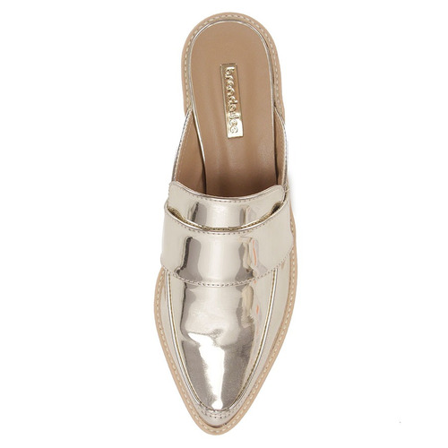 ce371b2a77 Sapato Mocassim Mule Feminino Brenda Lee - Dourado(a) - R  49